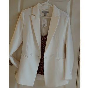 H&M Fitted White Blazer